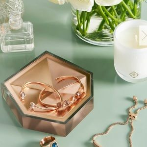 Kendra Scott Rose Gold Faceted dish